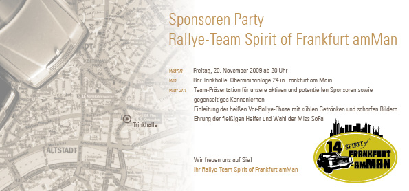 Sponsoren Party Team Spirit of Frankfurt amMan